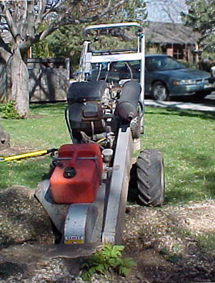 Photo of stump grinder